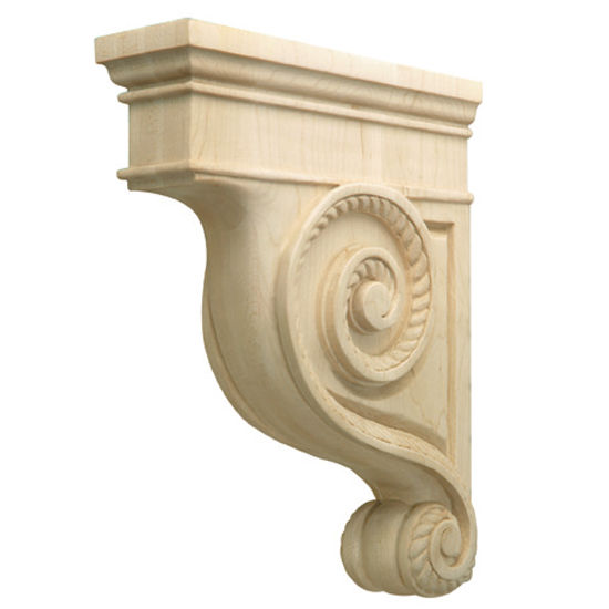 Hafele Americana Collection Hand Carved Corbel Rope, 2-7/8'' W x 9'' D x 12'' H