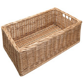 Moveable Wicker Storage Baskets
