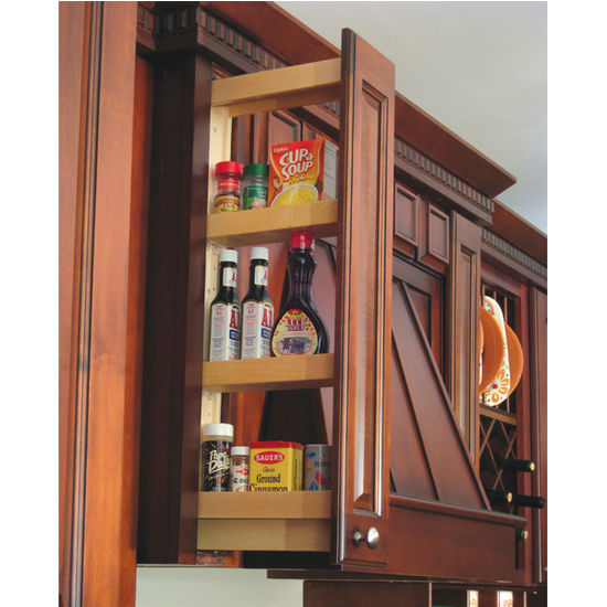 Slide Out Spice Racks For Kitchen Cabinets: Maple Kitchen Upper Cabinet Wall