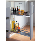 Kitchen or Bath 2-Tier Base Cabinet Pull-Out Organizer w/ Dampening Function