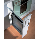 Kitchen Base Cabinet Pull-Out for Baking Trays w/ Dampening Function