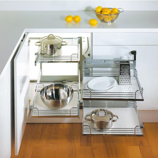 Kitchen Cabinets Corner Solutions: Hafele Magic Corner II For Use In Kitchen Blind Corner