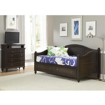 Home Styles Bermuda Daybed & TV Media Chest, Espresso Finish