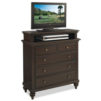 Home Styles Bermuda TV Media Chest, Espresso Finish