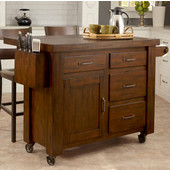 Cabin Creek Kitchen Cart with Breakfast Bar by Home Styles