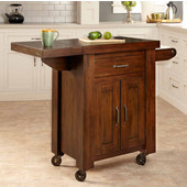 Cabin Creek Kitchen Cart with Side Drop Leaf by Home Styles