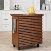 Cascade Louvered Kitchen Cart by Home Styles