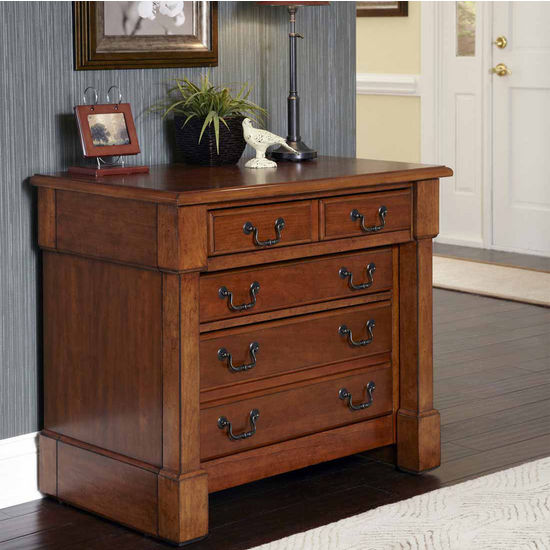Home Styles The Aspen Collection Expanding Desk, Rustic Cherry