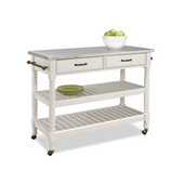 Savannah Cart with Stainless Steel Top, Black by Home Styles