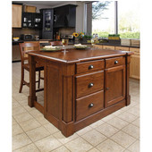 Aspen Kitchen Island & Two Stools by Home Styles