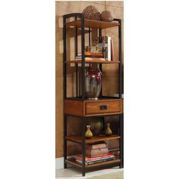 Home Styles Modern Craftsman Media Gaming Tower, Oak