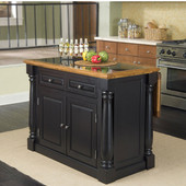 Monarch Kitchen Island with Granite Insert by Home Styles