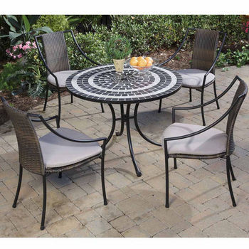 Delmar 5-Pc. Dining Set with 4 Laguna Slope Arm Chairs