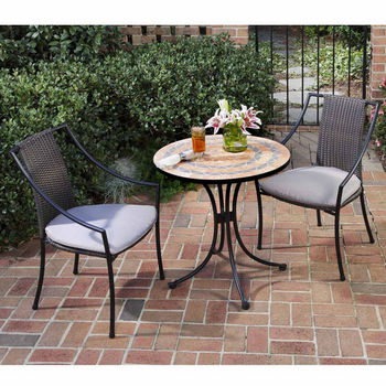 Terra Cotta 3-Pc. Bistro Set with 2 Laguna Slope Arm Chairs