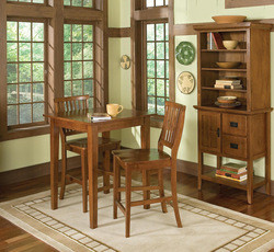 Home Styles Arts & Crafts Bistro Table & 2 Stools