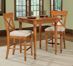 Home Styles Ponderosa Bistro Table & 2 Stools