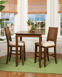 Home Styles Jamaican Bay Bistro Table & 2 Stools