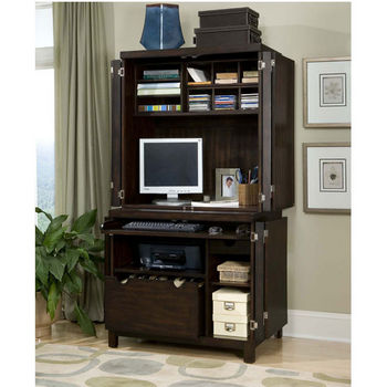 Espresso City Chic Computer Cabinet & Hutch by Home Styles
