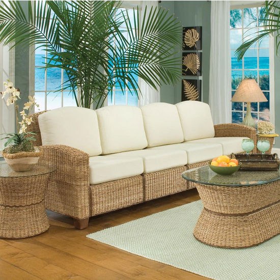 Home Styles Cabana Banana 4 Section Sofa, Honey Oak (5401 63 95385788841)