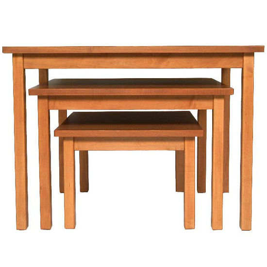 John Boos Medium Solid Maple Nesting Table, 38inchW x 30inchD x 28inchH