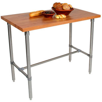 Cherry Butcher Block Top Cucina Classico Kitchen Island by John Boos