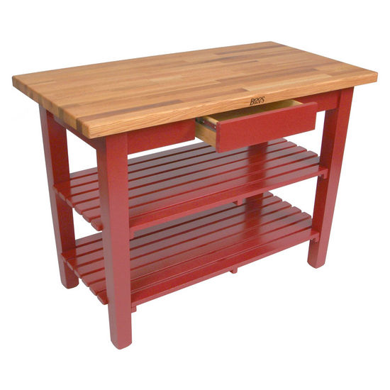 John Boos Oak Table Boos Block 36W Kitchen Island With 2