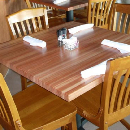 Square Red Oak Butcher Block Table Tops