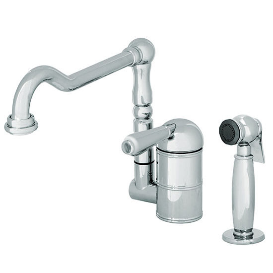 "JULIEN Coast Polished Chrome Kitchen Faucet with Matching Handle, 11""D x 9-3/16""H"