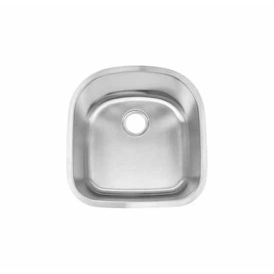 JULIEN Contour Small 033500 Undermount Stainless Steel Kitchen Sink