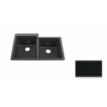 JULIEN 065000 Summum 1-1/2 Undermount Black Granix Kitchen Sink