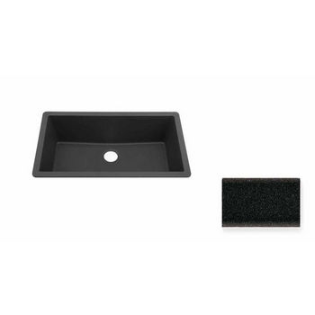 JULIEN 065004 Summum X-Large Undermount Black Granix Kitchen Sink