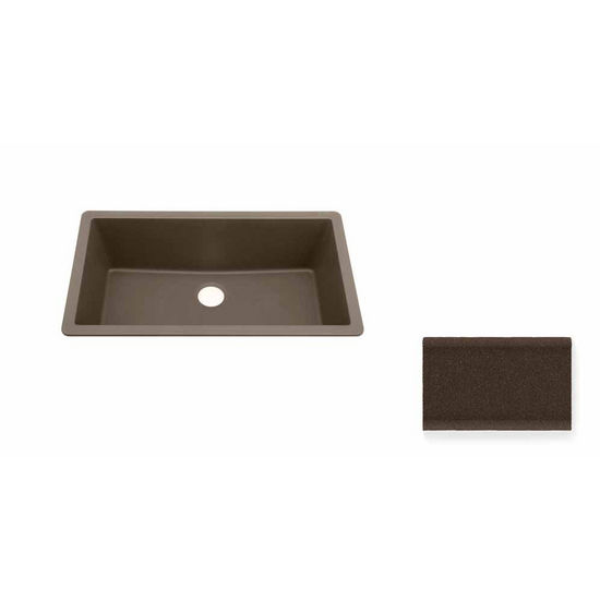 JULIEN 065014 Summum X-Large Undermount Brown Granix Kitchen Sink