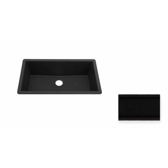 JULIEN 065054 Summum X-Large Undermount Jet Black Granix Kitchen Sink