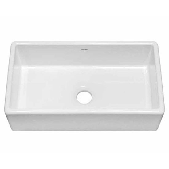 JULIEN 080101 Nantucket Large Farmhouse White Fireclay Kitchen Sink