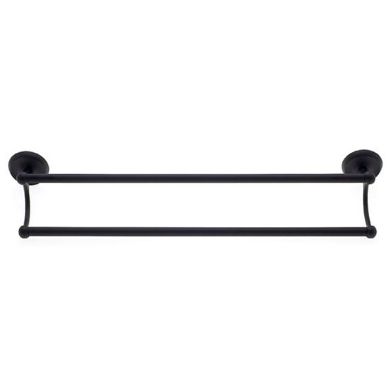 "JVJ Hardware Plain Series 24"" Oil Rubbed Bronze Double Towel Bar Set"