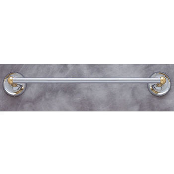 "JVJ Hardware Plain Series 18"", 24"", 30"" Chrome and Solid Brass Double Towel Bar Set"
