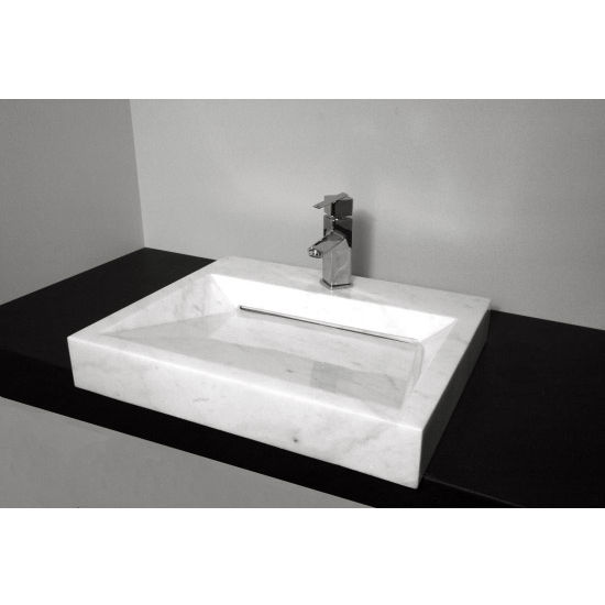 Cantrio Koncepts Bianco Carrera Vessel Bathroom Sink