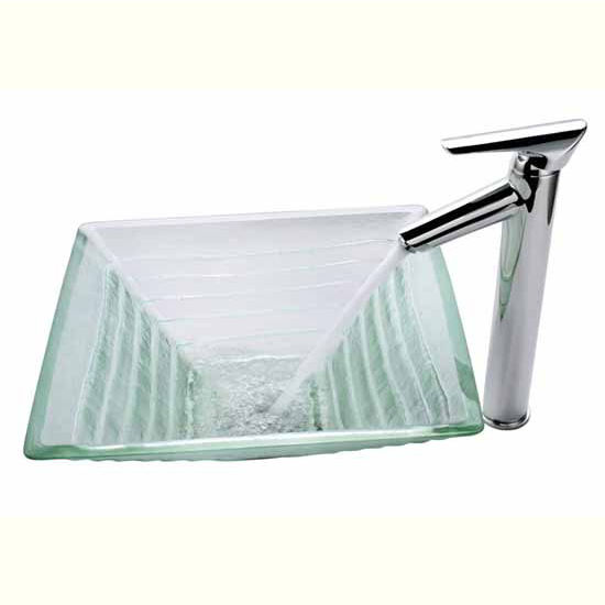 Kraus Clear Alexandrite Glass Vessel Sink and Decus Bath Faucet, Chrome at Sears.com