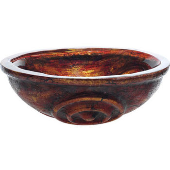 Kraus Tiger Eye Glass Vessel Sink