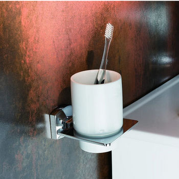 Kraus Fortis Bathroom Wall Mounted Ceramic Tumbler Holder