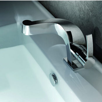 "Kraus Typhon Single Lever Basin Chrome Faucet, 5-1/2""H"