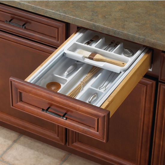 Knape & Vogt Double Tiered Kitchen Cutlery Drawer Insert