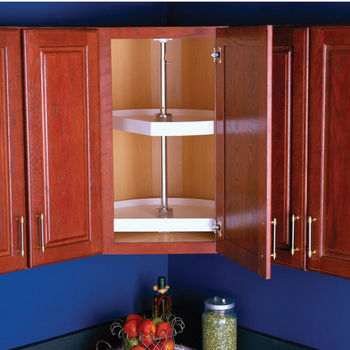 Polymer D-Shaped Lazy Susan For Upper Pantry Cabinet