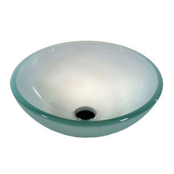 12 mm Tempered Glass Frosted Rounded Edge Vessel Bowl