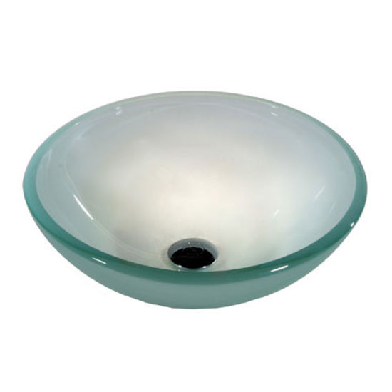 12mm Tempered Frosted Glass Flat Edge Vessel Sink Bowl