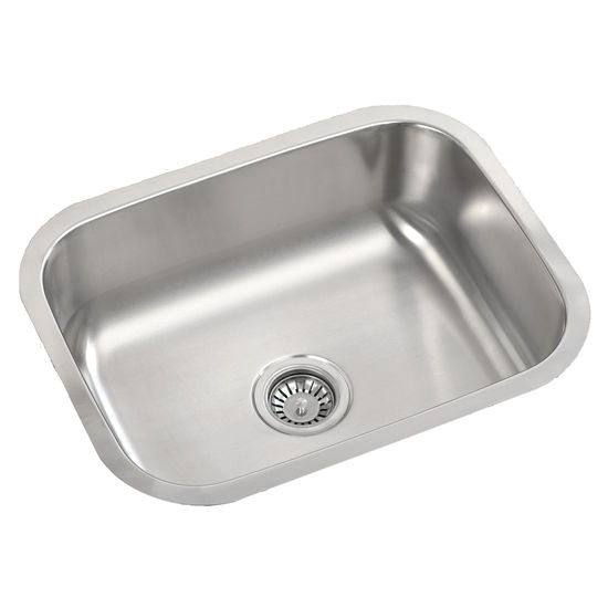 Mitrani Titan Steel Terzo Single Bowl Undermount/ Flushmount Stainless Steel Kitchen Sink