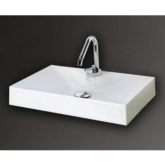 Mitrani Anis 500 Surface Mount Bathroom Sink, 19-3/16 W x 12-13/16 D x ...