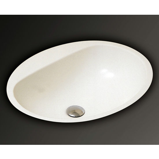 Mitrani ST 553 Oval Undermount Bathroom Sink, 21-13/16 W x 17-5/8 D x 7-3/16 H, White