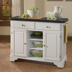 Mix and Match Premium Create-a-Cart w/ White Finish and Black Granite Top by Home Styles