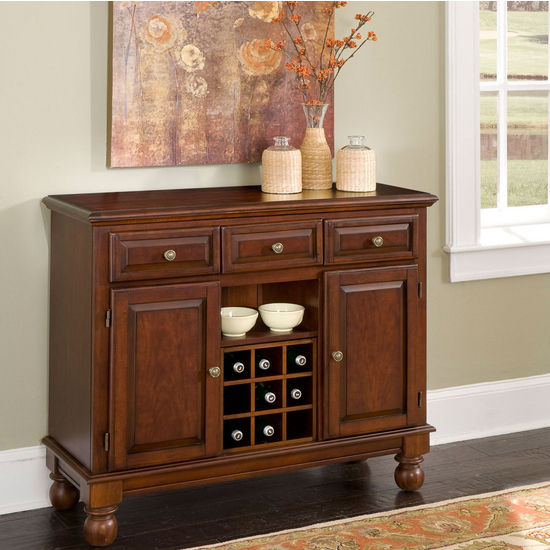 Mix & Match Premium Large Buffet w/ Cherry Finish and Wood Top by Home Styles